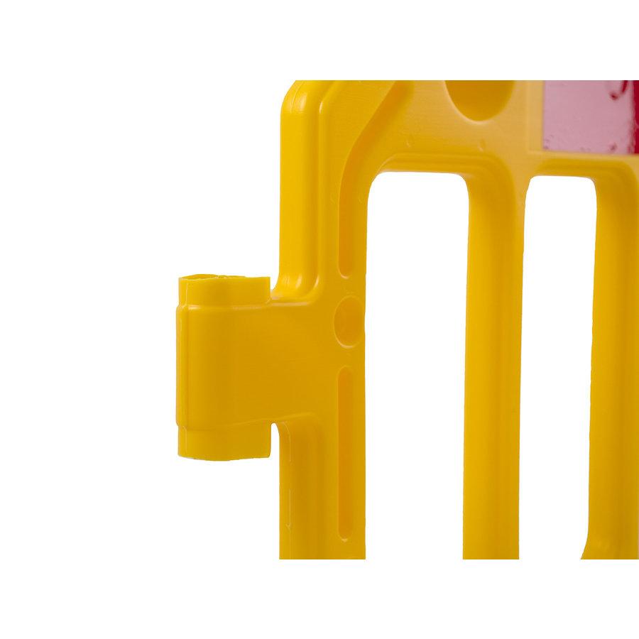 Werfhek GATEBARRIER - geel - 1000 x 2000 mm-3