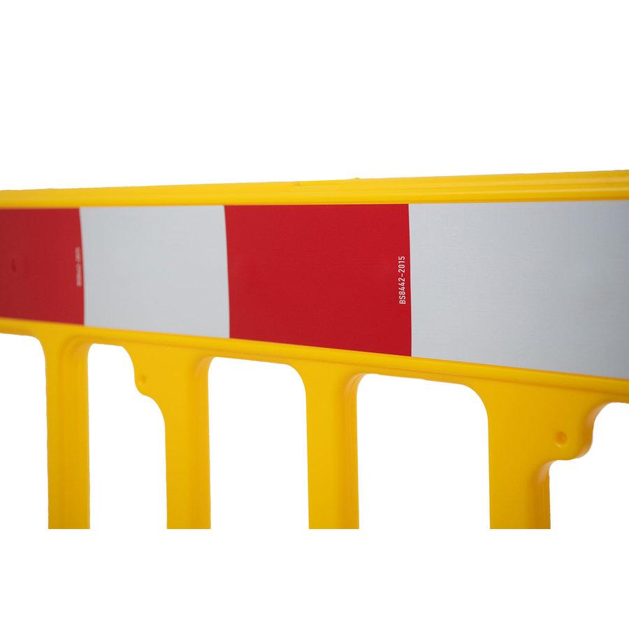 Werfhek GATEBARRIER - geel - 1000 x 2000 mm-5