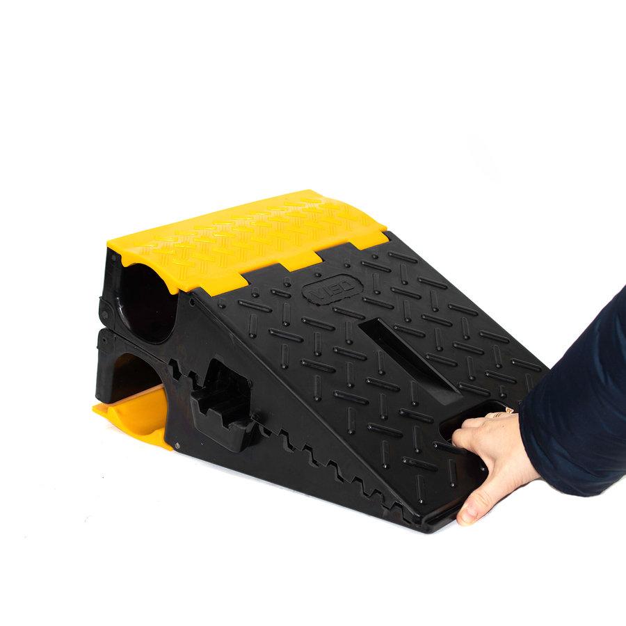 Opvouwbare en draagbare slangbrug met deksels - 2 x Ø 80mm-2