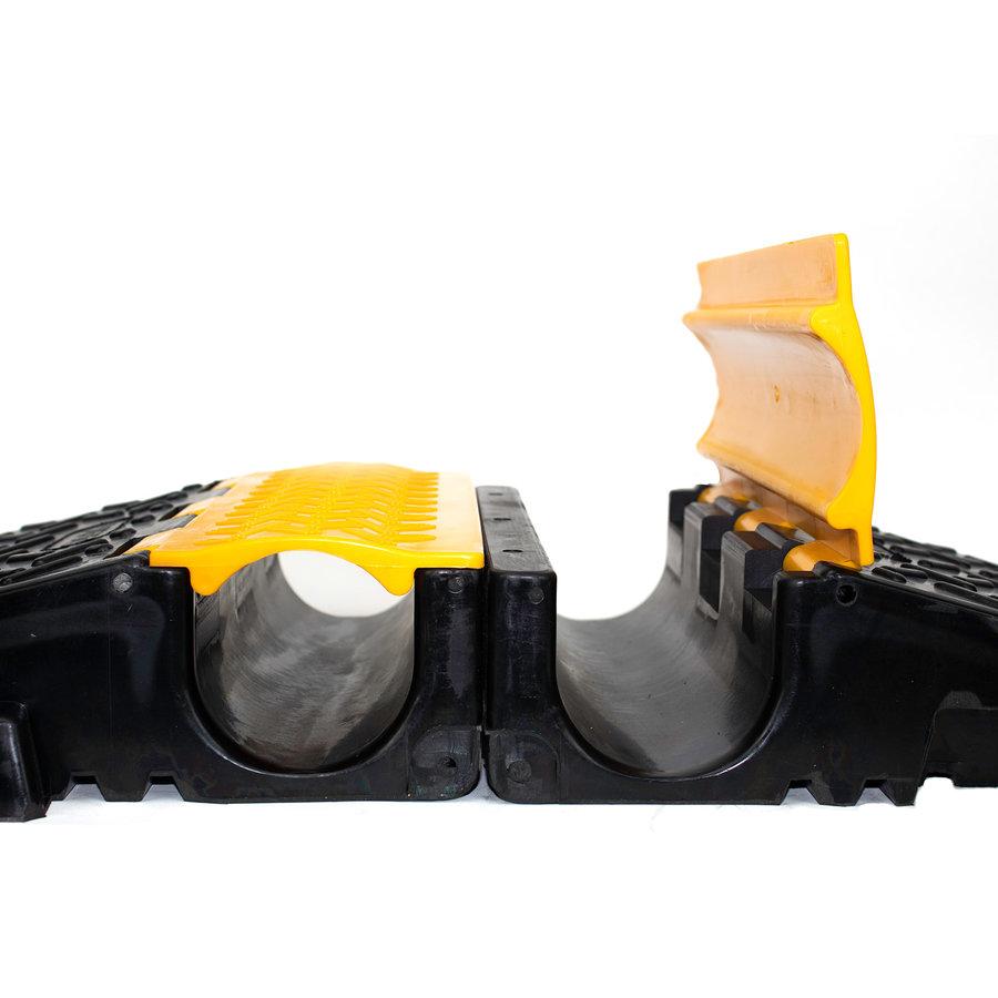 Opvouwbare en draagbare slangbrug met deksels - 2 x Ø 80mm-5