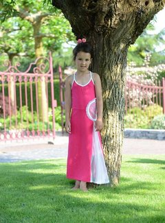 LoFff Maxi jurk fuchsia, maat 170/176
