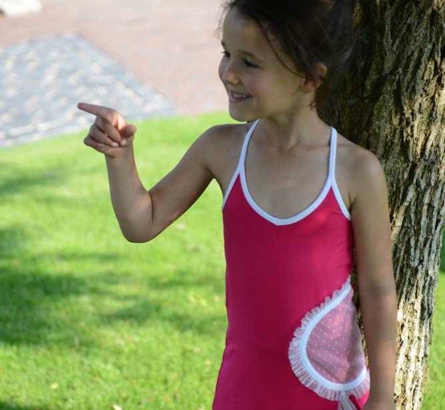 Maxi jurk fuchsia van LoFff
