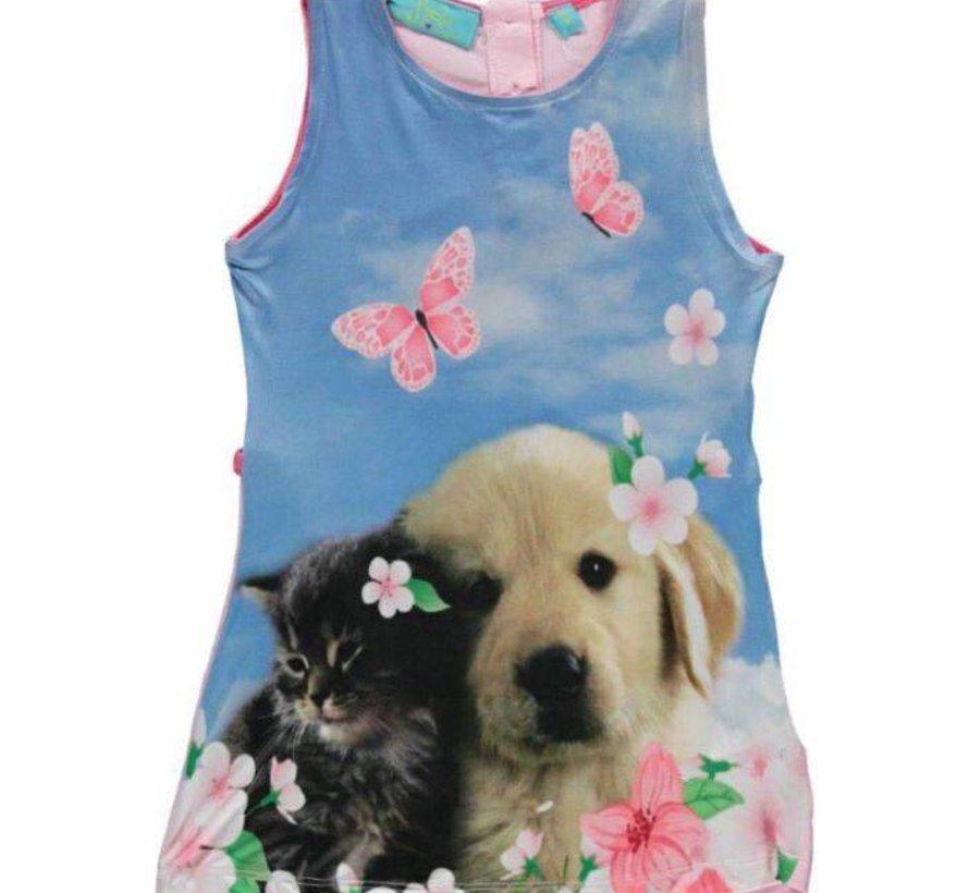 Mouwloos hond en kat jurkje van Very Lovely Girls