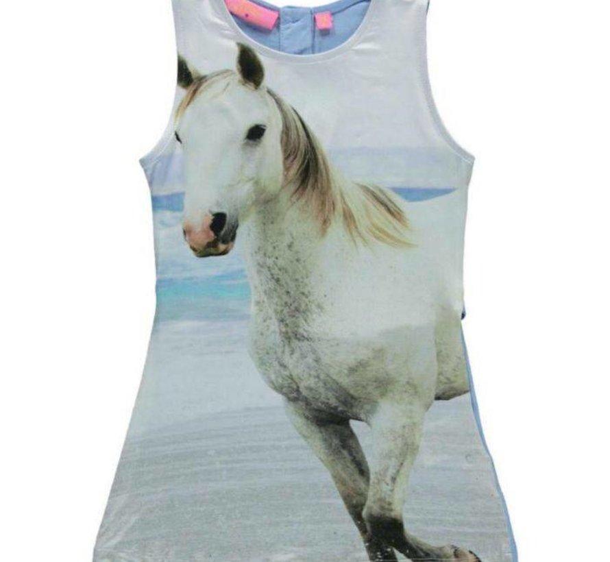 Mouwloos  jurkje met paard van Very Lovely Girls
