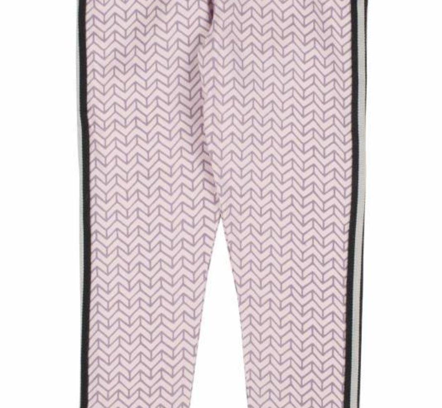 Sportieve legging zachtroze met zigzag van Birds by D-rak, winter 2017