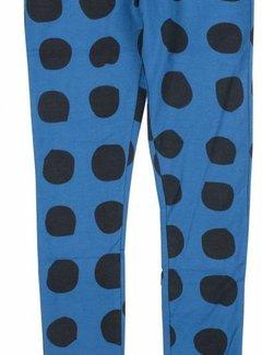 Birds by D-rak Legging blauw met donkerblauwe stippen, maat 92