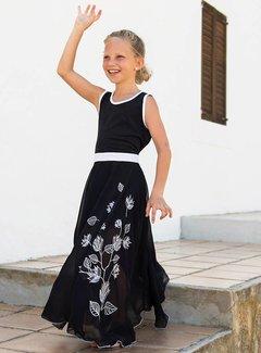 LoFff Maxi jurk  zwart, mt 92,98 en 104