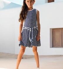 LoFff Blauw witte jurk, maat 92