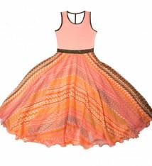 LoFff Maxi jurk  coral, maat 98