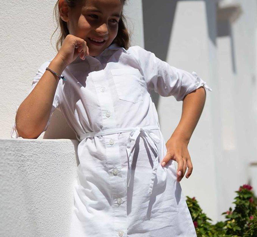Wit overhemd jurkje van  LoFff zomer 2018