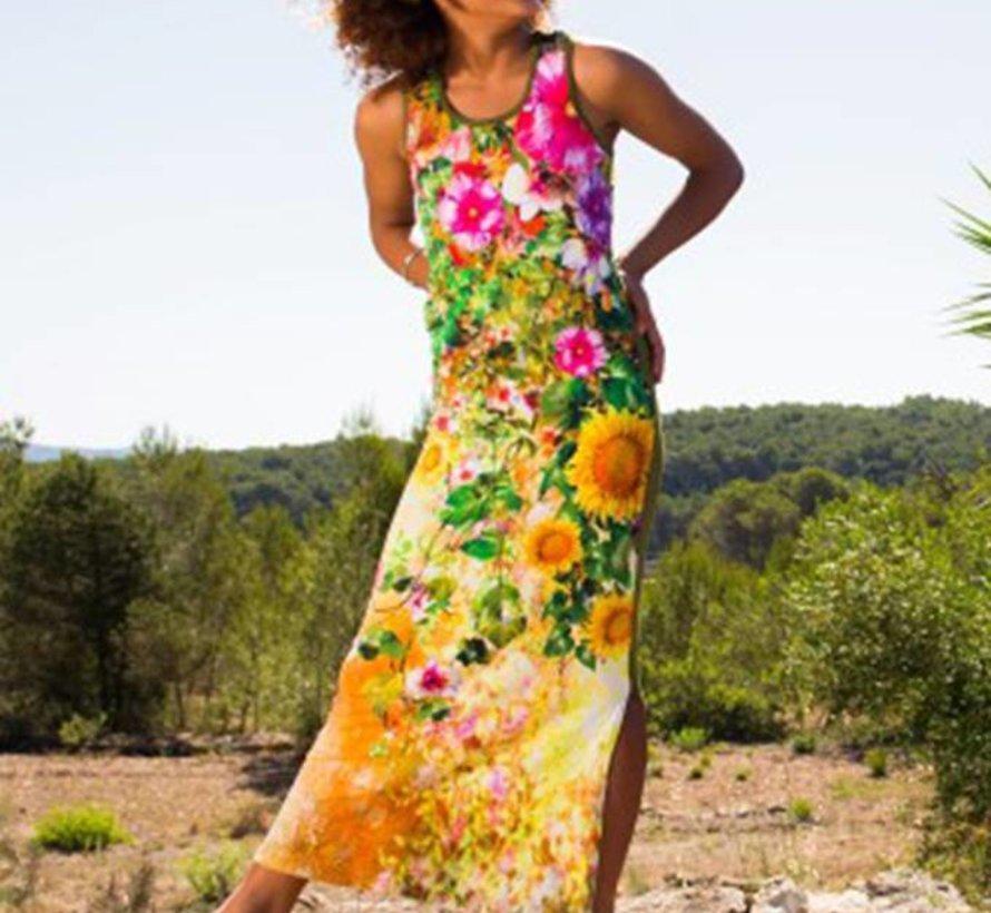 Maxi jurk Maledives bloemenprint, LavaLava, zomer 2018