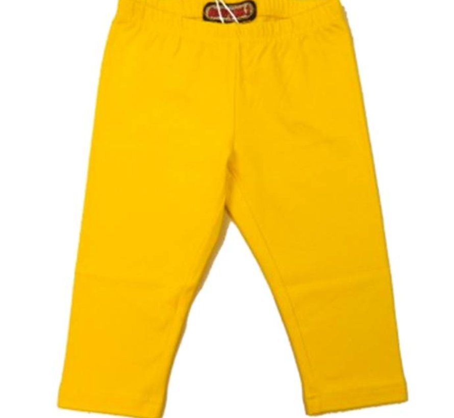 Driekwart legging geel, Happy nr 1, zomer 2018