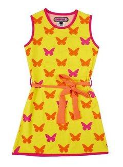 Happy nr 1  Meisjesjurkje geel vlinders