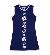 Happy nr 1  Bloemenjurkje blauw wit, zomer