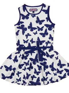 Happy nr 1  Vlinderjurkje blauw wit