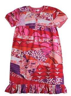 AYA Naya LAATSTE KANS: meisjesjurkje met bloemen in rood paars roze