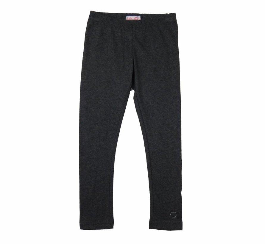 Legging lang grijs melange