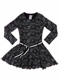 LoFff Hartjesjurkje zwart-wit