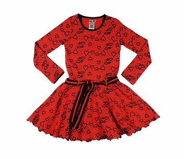 LoFff Hartjesjurkje rood-zwart