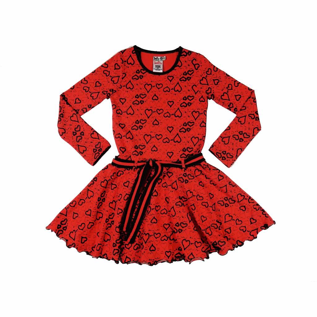Rood Met Zwart Jurkje.Hartjesjurkje In Rood Zwart Kinderjurken Com By Lieva Jurkjes