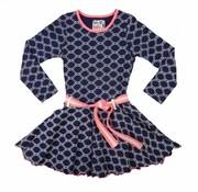 LoFff Blauwe jurk en roze details