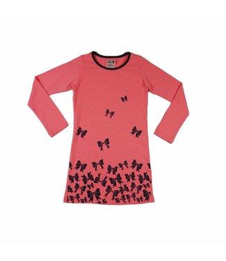 LoFff Jurk roze strikjes