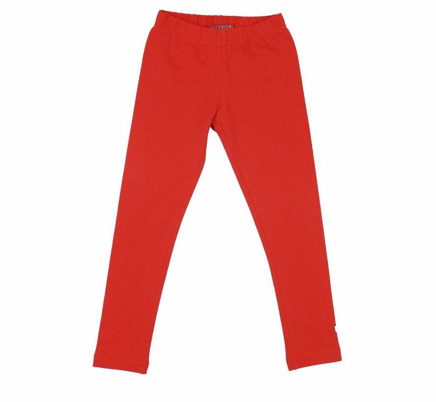 Legging lang rood coral Lovestation22
