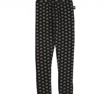 Birds by D-rak Legging zwart met all over print