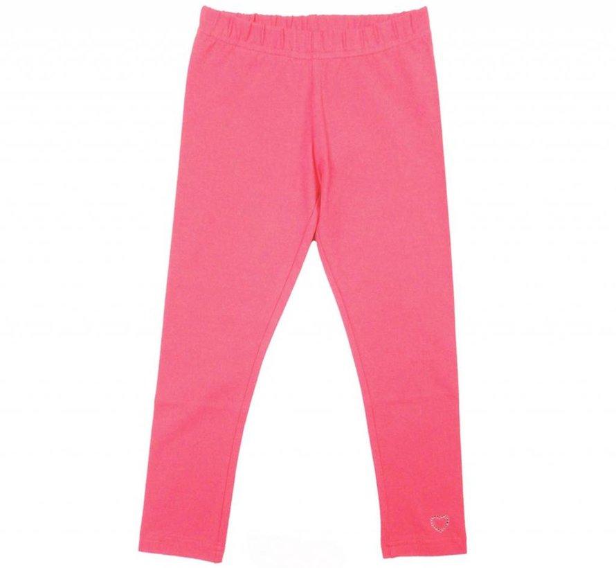 Legging lang roze neon pink coral