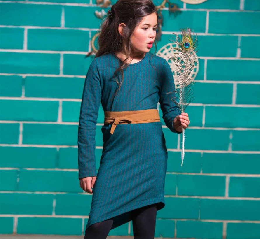 A-symmetrisch jurkje wol look  'Aztec', LavaLava, Winter 2018