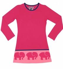 Happy nr 1  Jurk roze met olifantenrand, mt 86/92