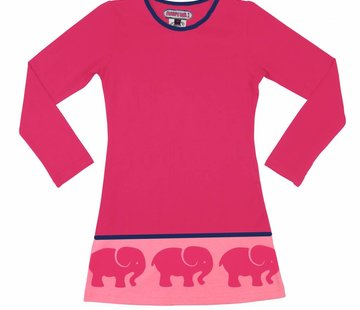 Happy nr 1  Jurk roze met olifantenrand