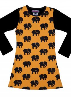 Happy nr 1  Olifanten jurkje oranje