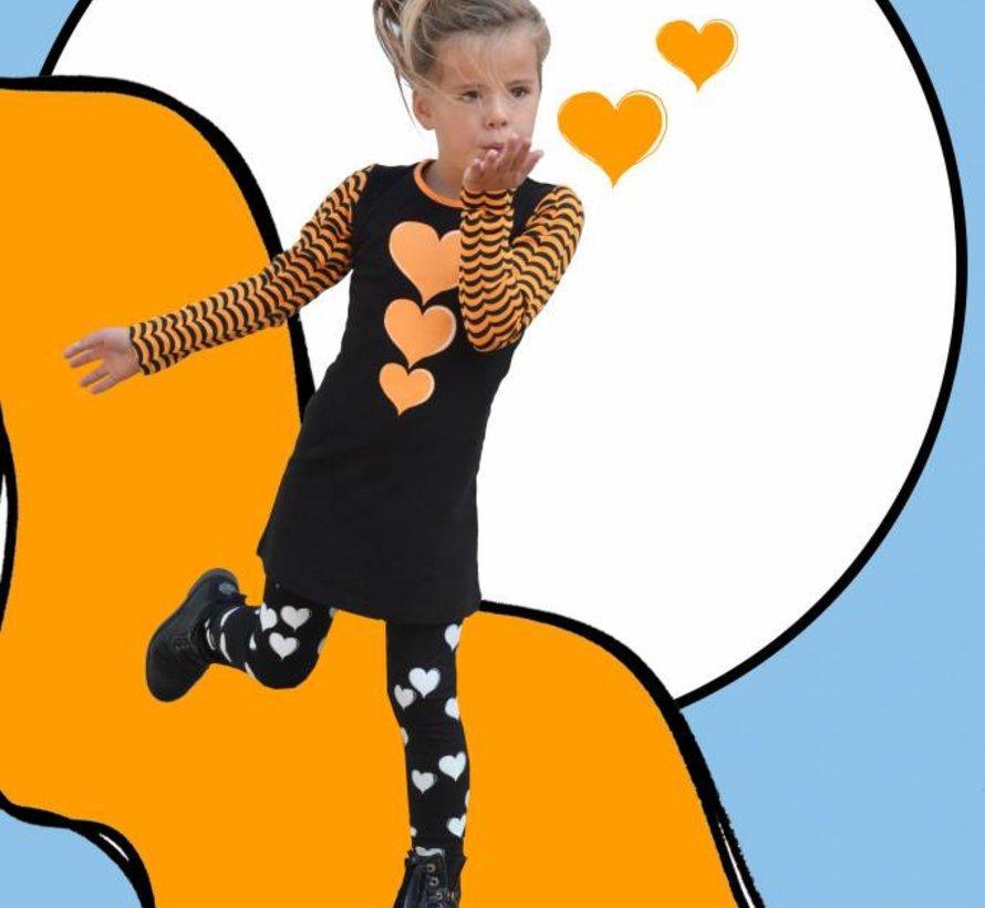 Retro jurkje oranje van Happy nr 1, maat 98/104