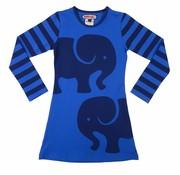 Happy nr 1  Olifanten jurkje blauw