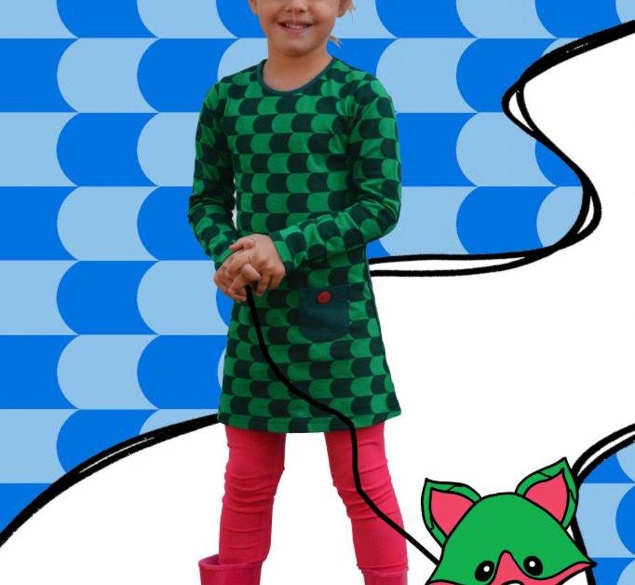 Groen jurkje van Happy nr 1 winter 2018