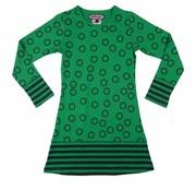 Happy nr 1  Cirkel jurkje groen en blauw