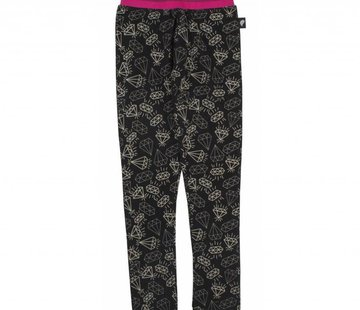 Birds by D-rak Legging zwart diamantjes