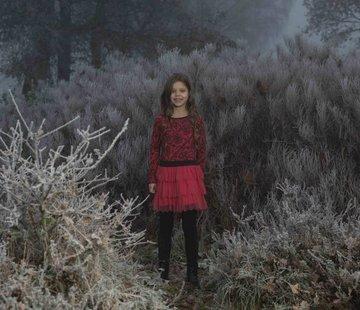 LoFff Rode jurk met tule rok