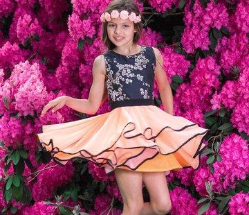 LoFff Communiejurk waterfall dream peach