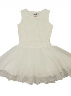 LoFff Communiejurk off white rozen