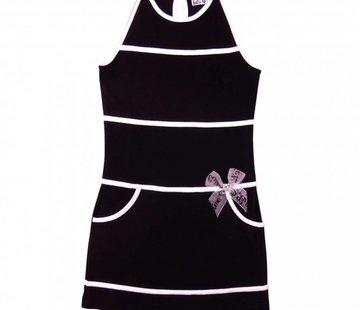 LoFff Geblokte jurk zwart wit