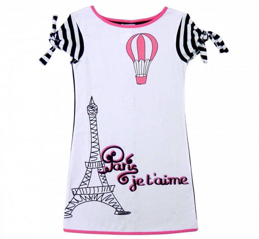 Parijs  jurk met knoopmouwtjes van  LoFff