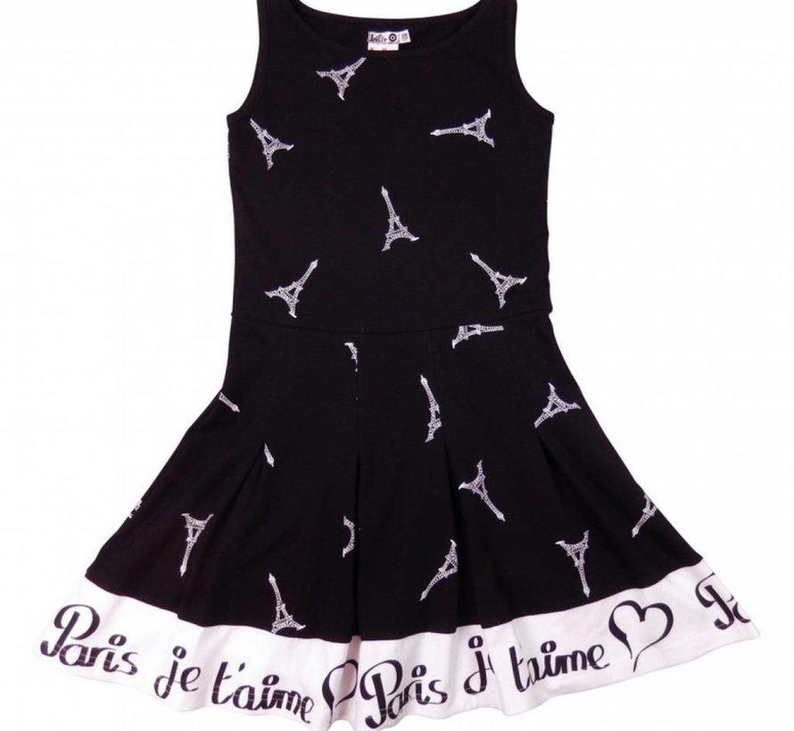 Jurk Paris je t'aime- zwart wit van Lofff