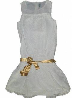 Doerak jurkjes Meisjesjurkje wit/goud