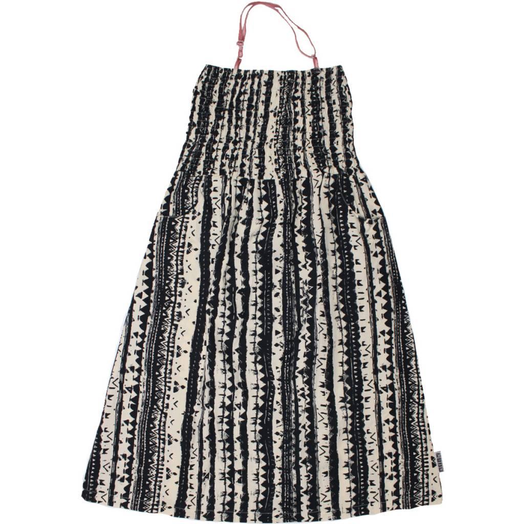MIJN-kleding Strandjurk zwart-offwhite van MIJN-Kleding