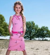 LoFff Midi jurk fuchsia