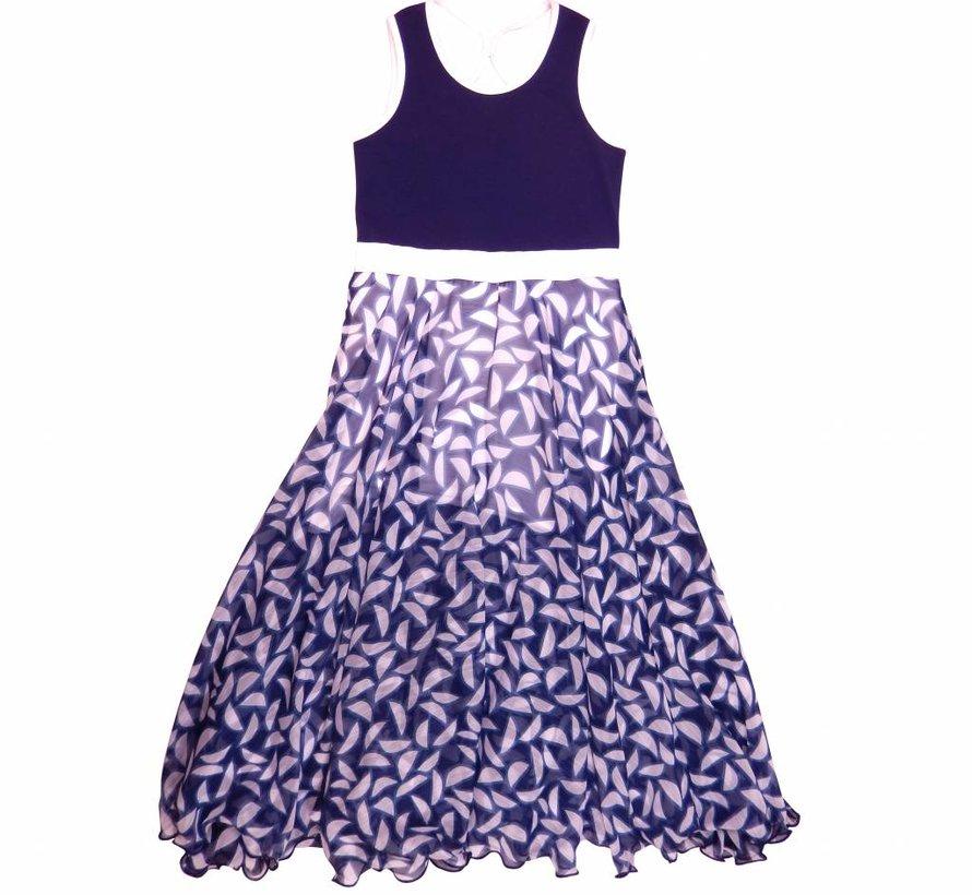 Maxi jurk blauw chiffon van  LoFff