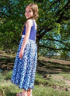 LoFff Maxi jurk blauw chiffon