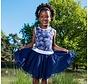 Wijde jurk in blauw wit  van Lofff